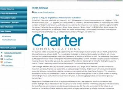 News video: Charter Snaps Up Bright House for $10.4B
